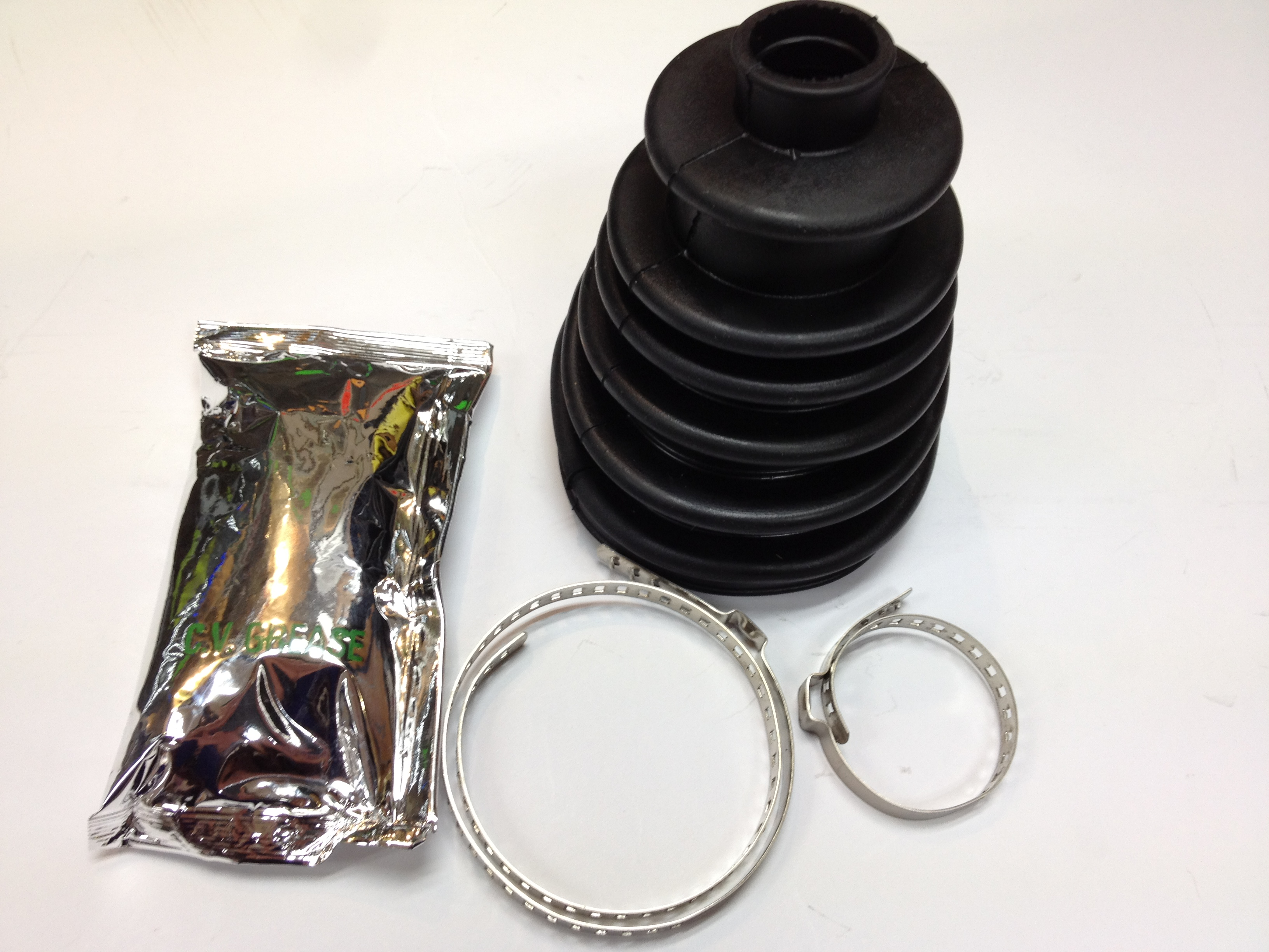 2X UNIVERSAL STRETCH DRIVE SHAFT GAITERS CV JOINT BOOT KIT /& FITTING CONE
