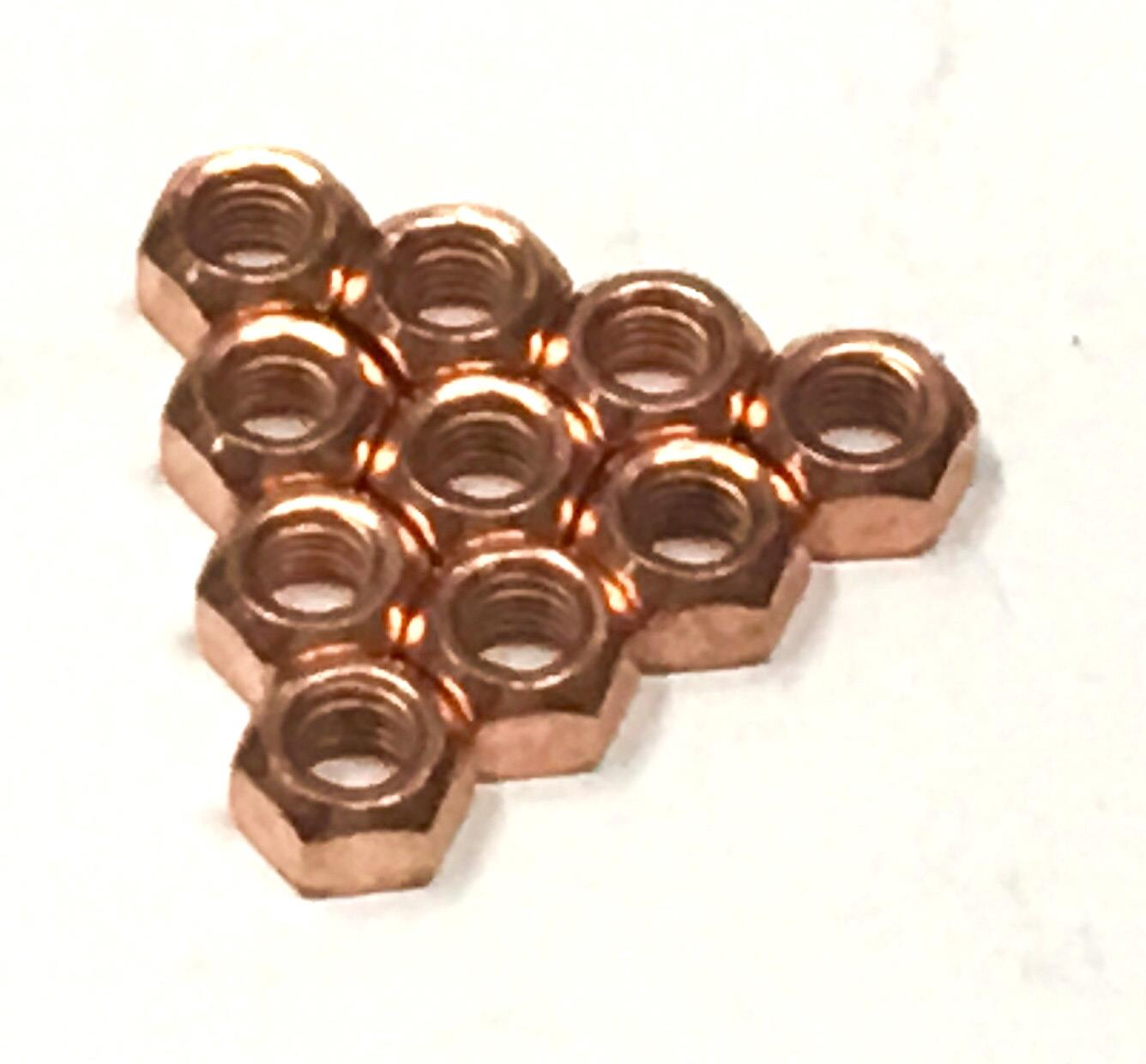 High Temperature Nuts Other 50x M10 Copper Flashed Exhaust Manifold 10mm Nut