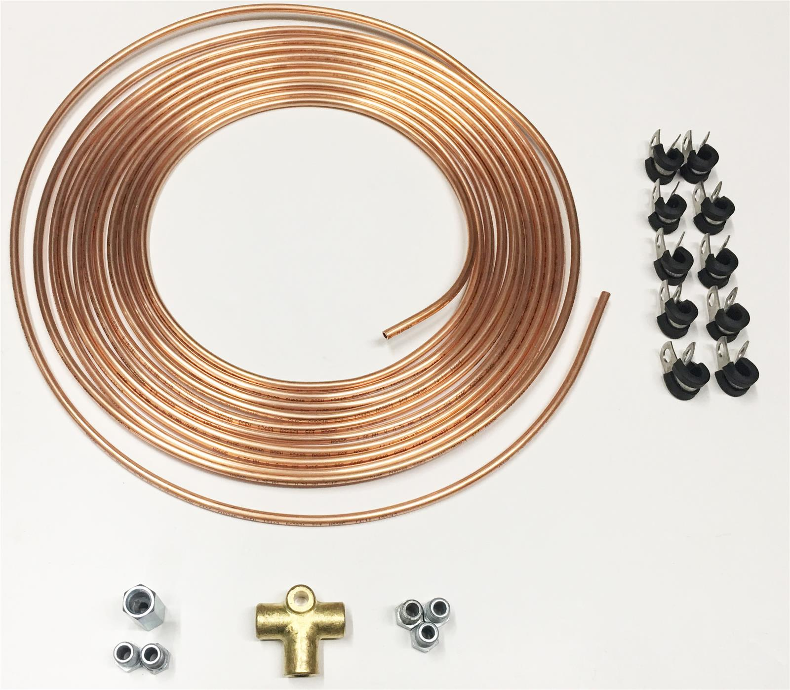 Variety Pack of 35 pieces 3//16 Copper Nickel//Copper Brake Pipe Fittings