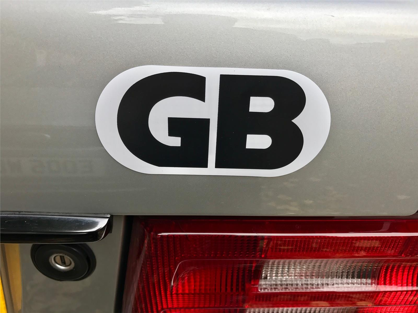 Magnetic GB Plate Sticker Essential Holiday Travel Essential For All Vehicles